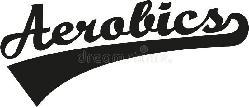 Mot d'aérobic rétro illustration de vecteur