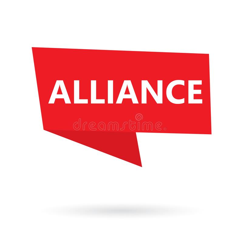 Mot d'Alliance sur une bulle de la parole illustration libre de droits