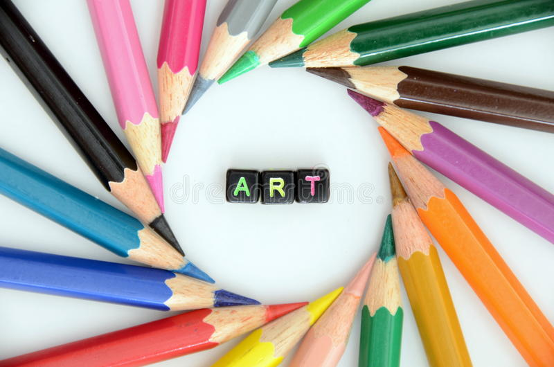 Mot d'ART photo stock