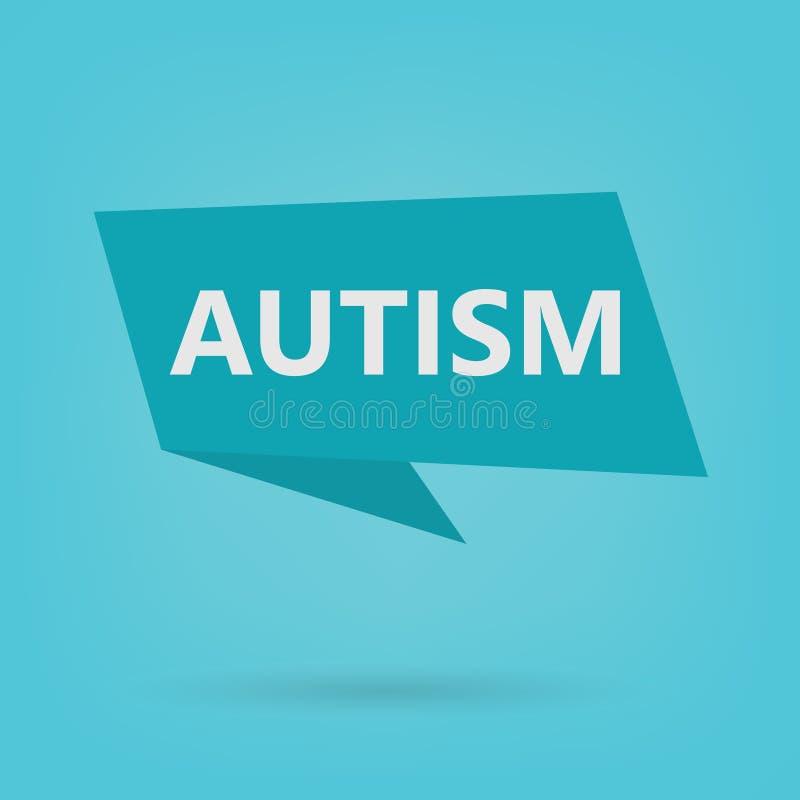 Mot d'autisme sur un autocollant illustration libre de droits