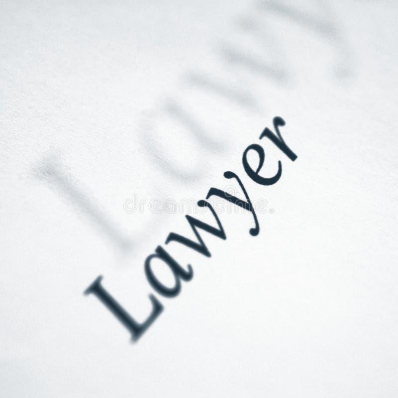 Mot d'avocat sur un livre blanc photo libre de droits