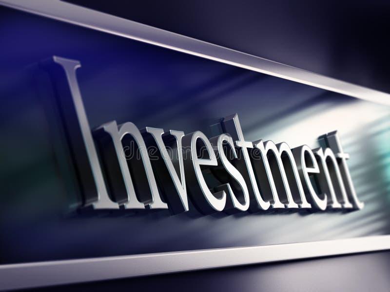 Mot d'investissement, façade de côté, réalisant des placements illustration de vecteur