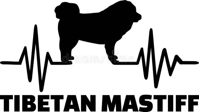 Mot de battement de coeur de mastiff tibétain illustration libre de droits