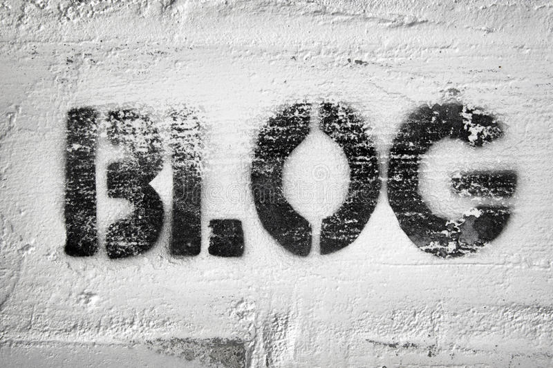 Mot de blog photographie stock libre de droits