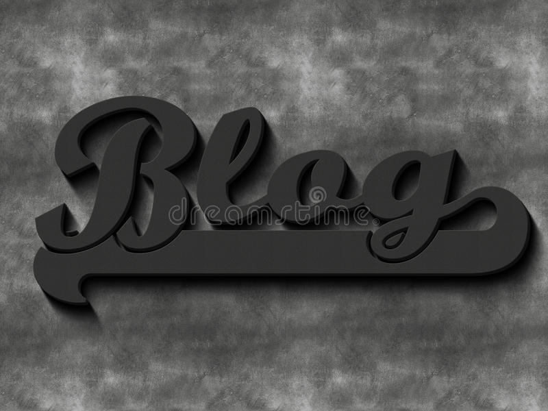 Mot de blog illustration libre de droits