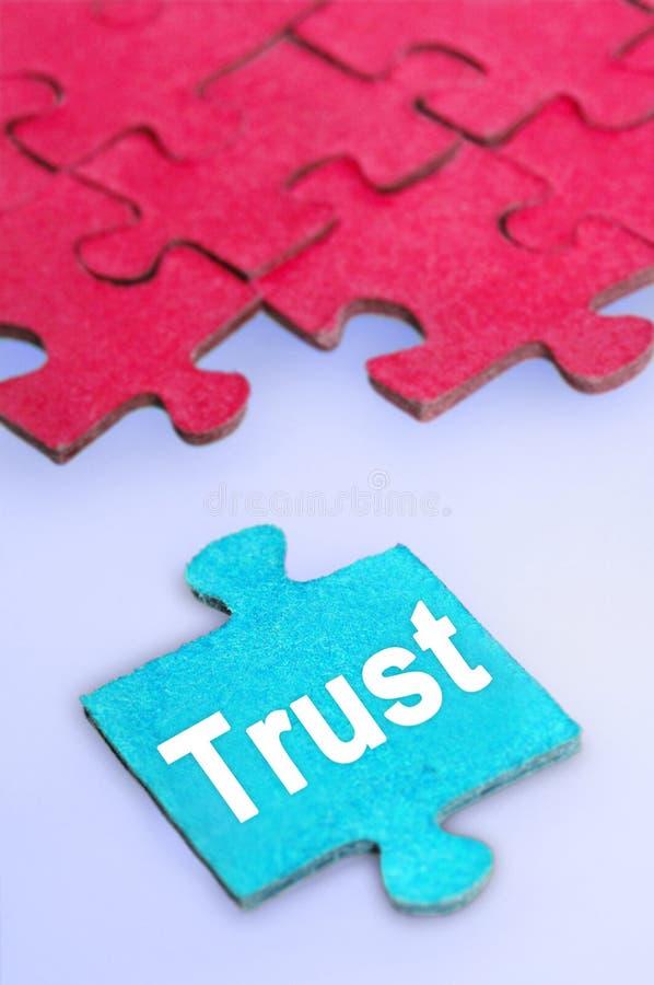 Mot de confiance photographie stock