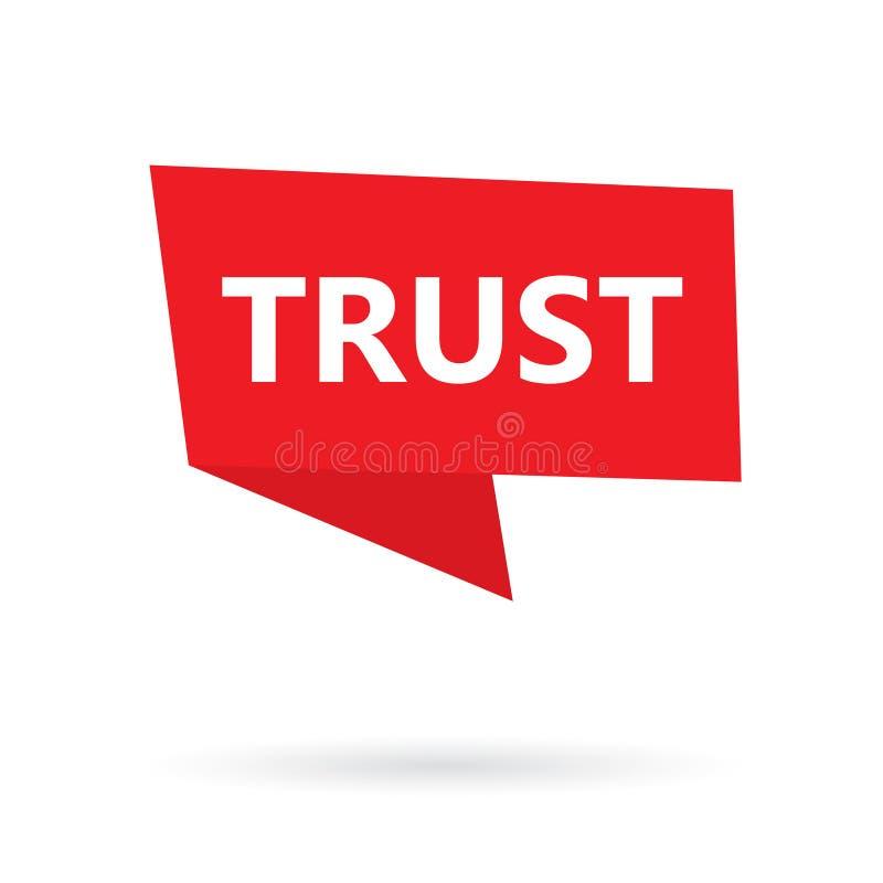 Mot de confiance sur un autocollant illustration stock