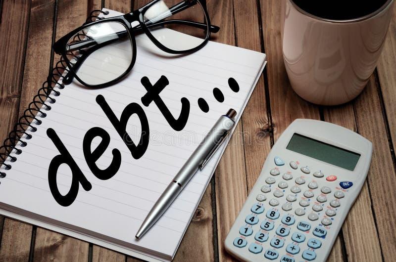 Mot de dette image libre de droits