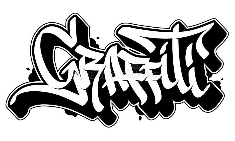 Mot de graffiti dans le style de graffiti Texte de vecteur illustration stock