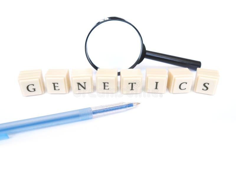 Mot de la génétique photographie stock