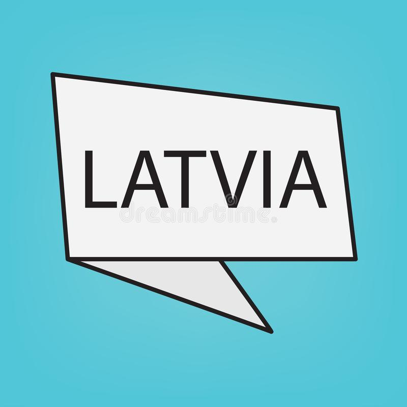 Mot de la Lettonie sur un autocollant illustration de vecteur