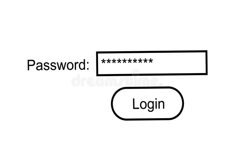 Mot de passe d'Internet illustration stock