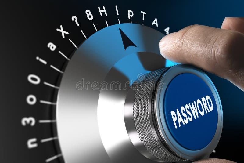 Mot de passe fixé et sûr illustration libre de droits
