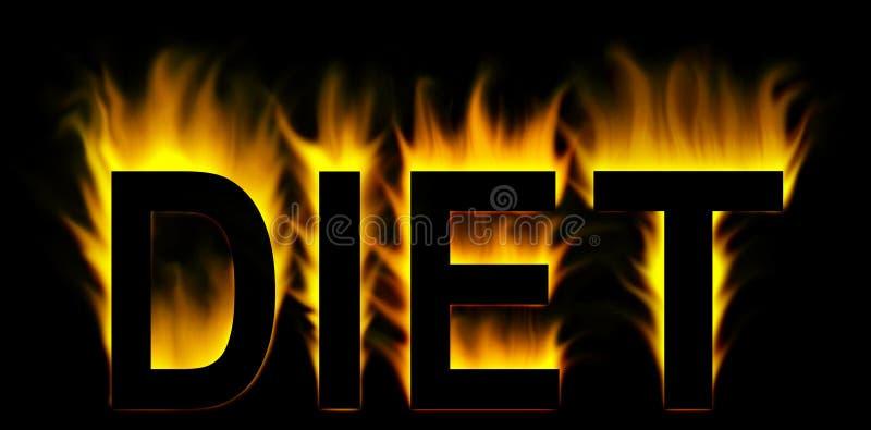 Mot de régime en incendie photo stock