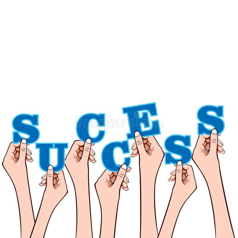 Mot de réussite sur la bulle de message illustration de vecteur