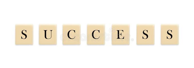 Mot de réussite sur le bloc illustration de vecteur