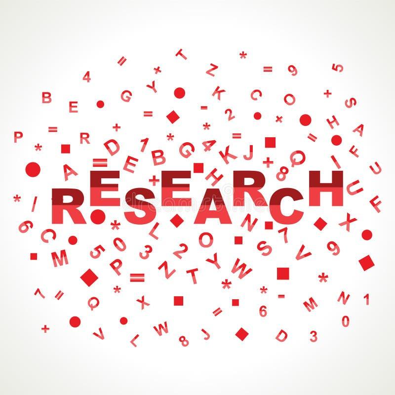 Mot de recherches avec dans des alphabets illustration libre de droits
