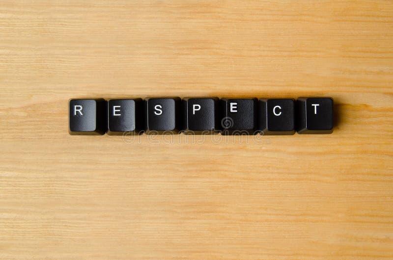 Mot de respect image libre de droits