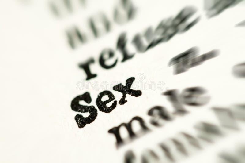 mot de sexe de dictionnaire images libres de droits