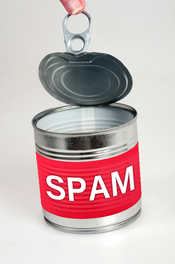 Mot de Spam photos libres de droits