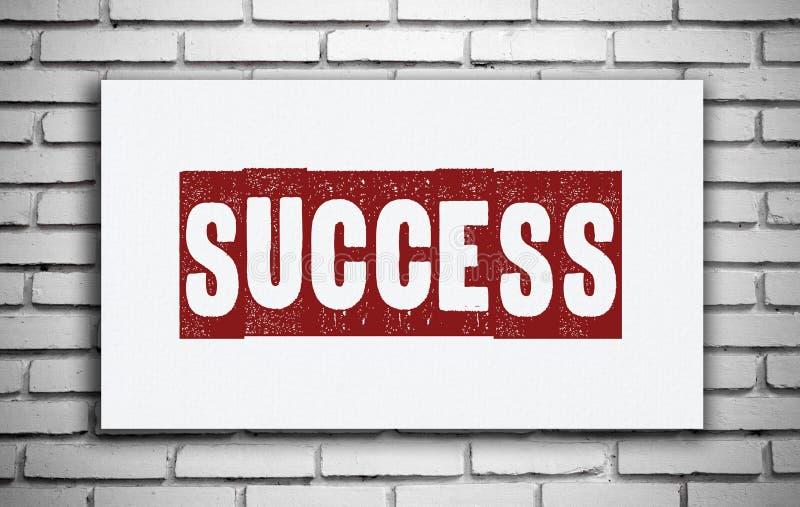 Mot de succès sur le panneau blanc, inspiration photo stock