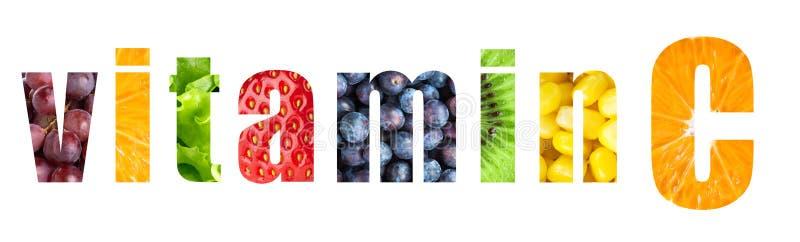 Mot de vitamine C images stock