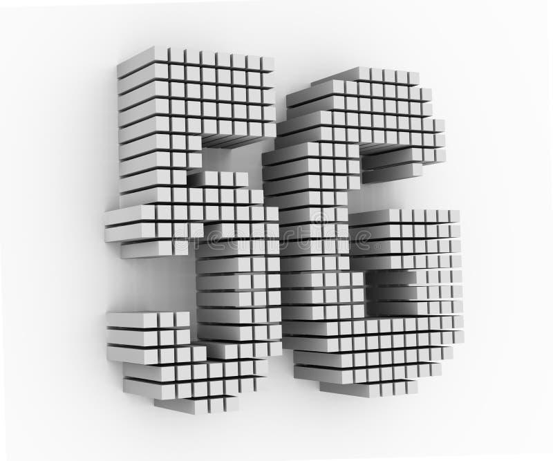 mot des textes de la conception 5G de matrice des cubes 3d illustration de vecteur