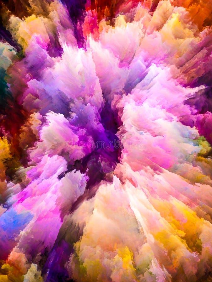 In mot Digital färger stock illustrationer