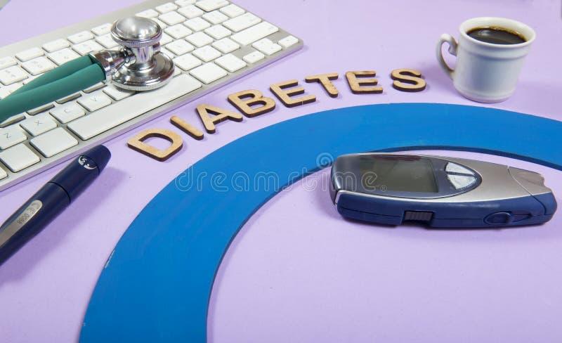 mot et x22 ; diabetes& x22 ; photos libres de droits