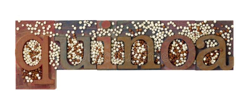 Mot et texture de quinoa image libre de droits