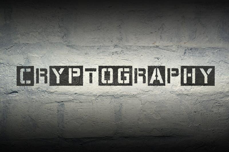 Mot GR de cryptographie images stock