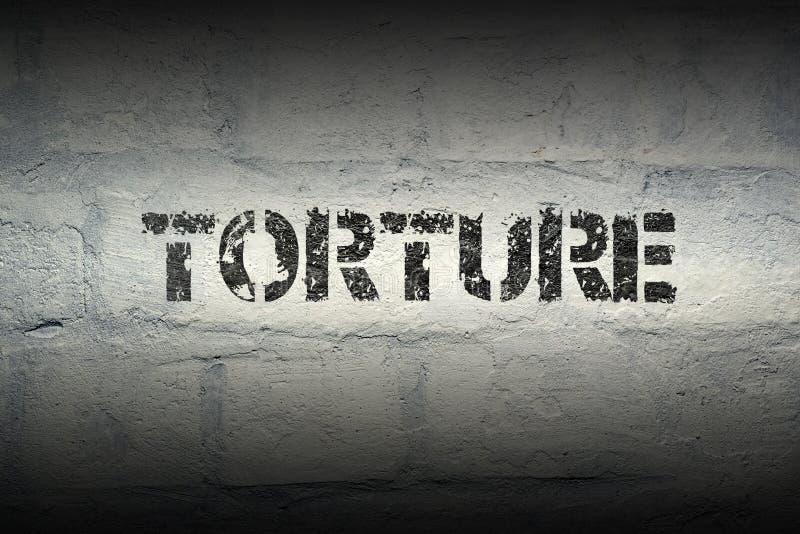 Mot GR de torture photographie stock libre de droits