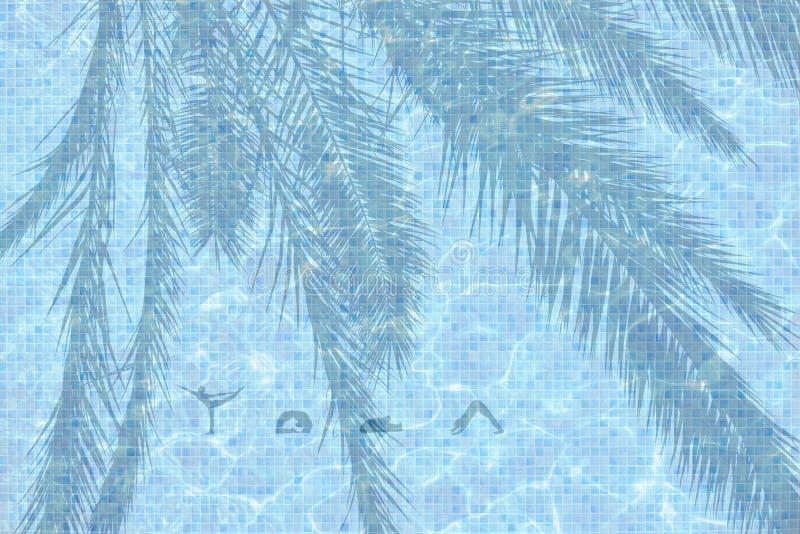 Mot illustré de yoga avec des chiffres à l'arrière-plan de poses photo libre de droits