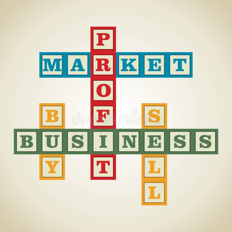 Mot lié au marché illustration libre de droits