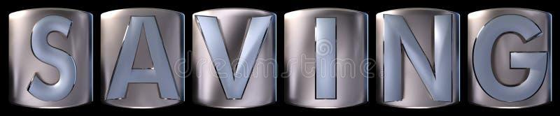 Mot métallique d'économie illustration de vecteur