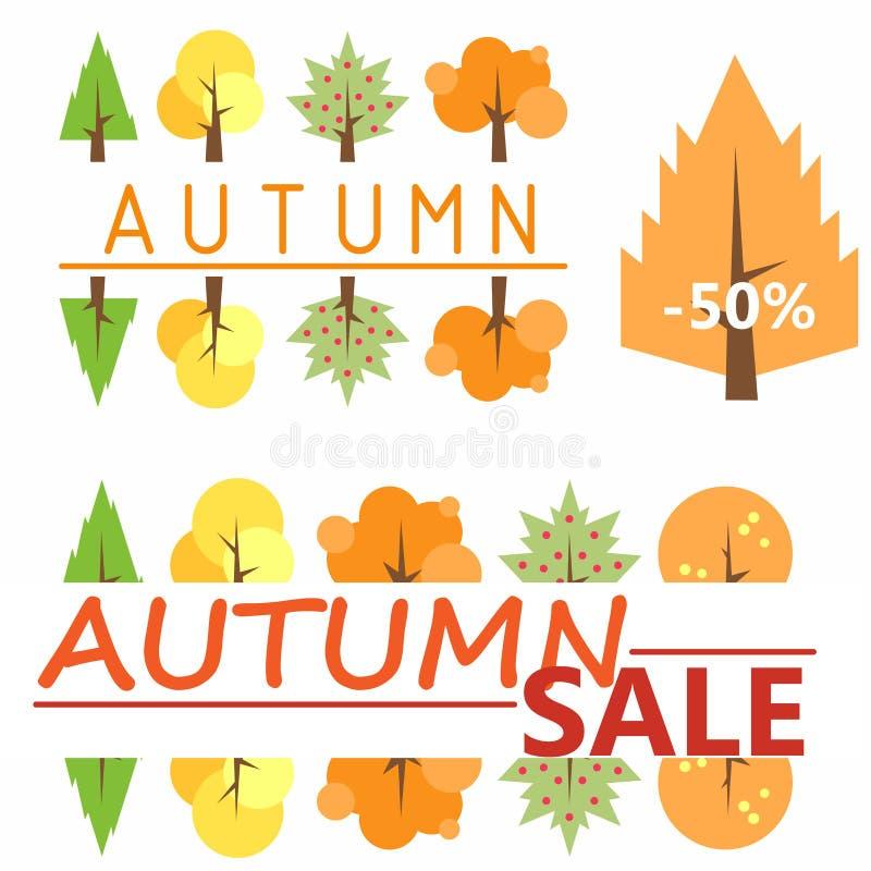 mot rouge de vente de lames d'automne rayure Calibre à vendre Calibre pour le logo Un logo peu commun Bientôt à l'école Vente d'é photo libre de droits