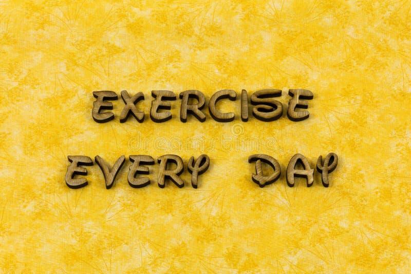 Mot sain de typographie de régime de force de bien-être d'exercice physique photographie stock libre de droits