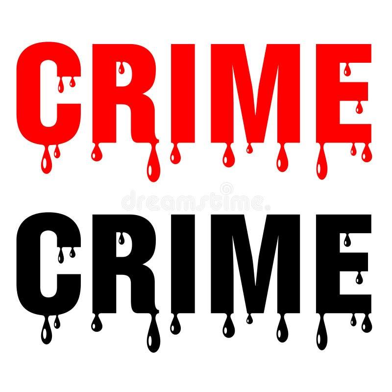 Mot sanglant de crime illustration libre de droits