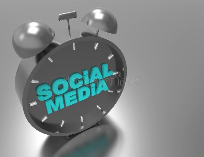 Mot social du media 3d illustration de vecteur