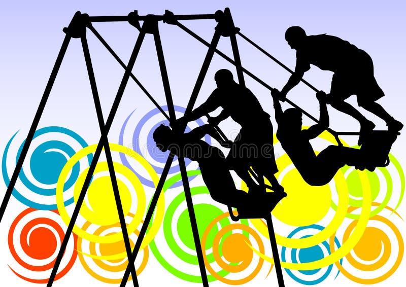 mot swing stock illustrationer
