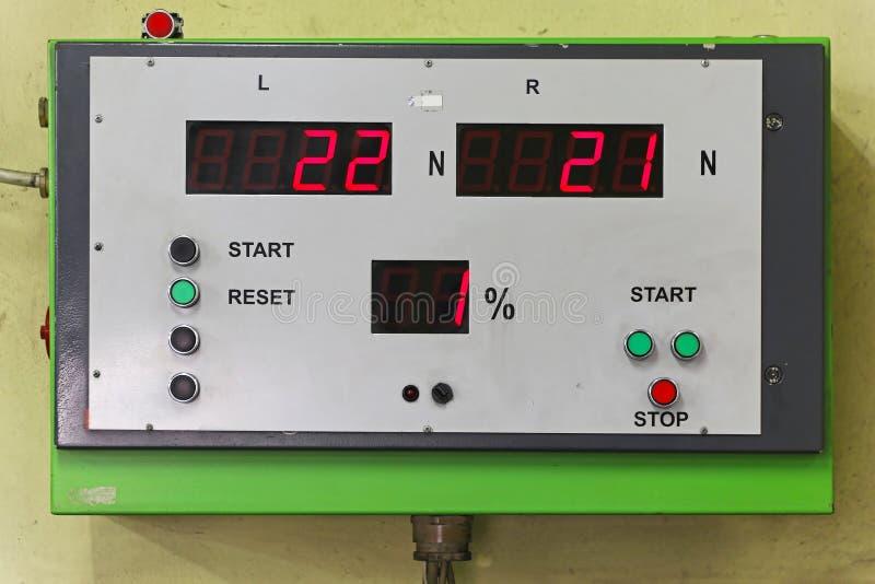 Mot test equipment. For brakes inspection royalty free stock images