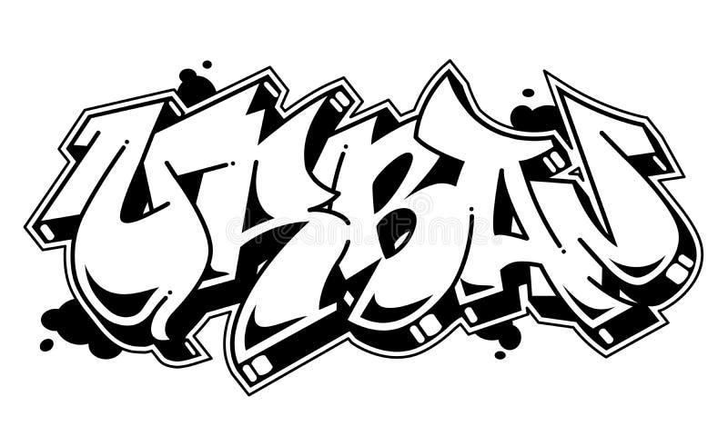 Mot urbain dans le style de graffiti Texte de vecteur illustration libre de droits