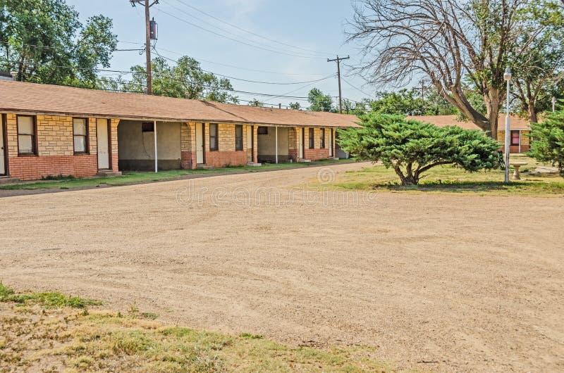 Motel abandonado en US66 imagen de archivo