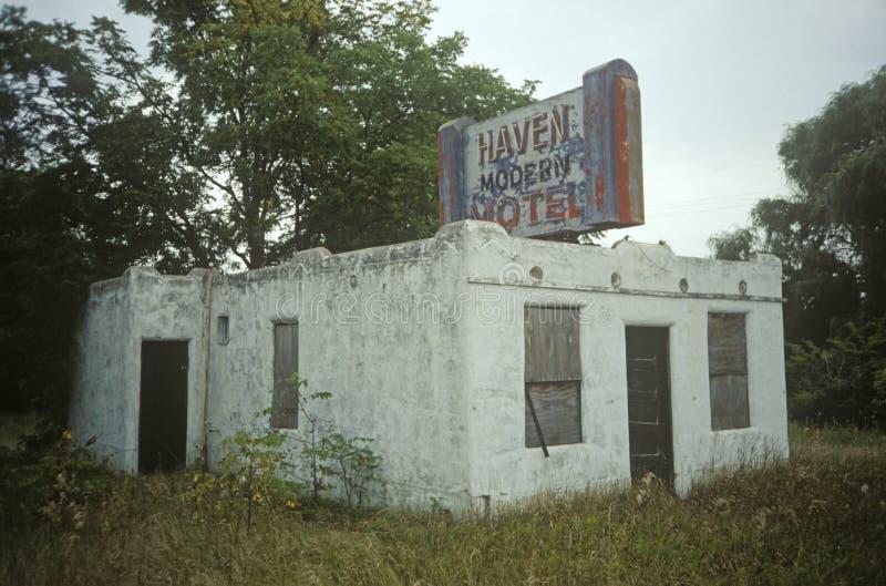 Motel abandonné, WI image libre de droits