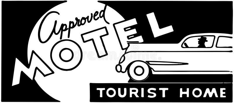 Motel aprobado 5 stock de ilustración