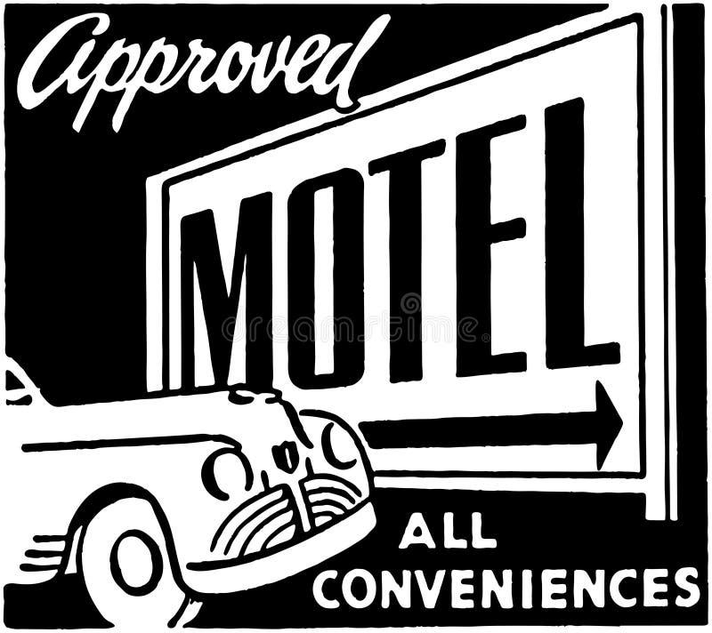 Motel aprobado 2 stock de ilustración