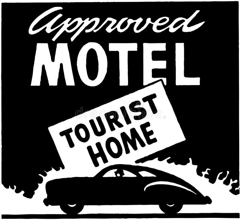 Motel aprobado 3 ilustración del vector