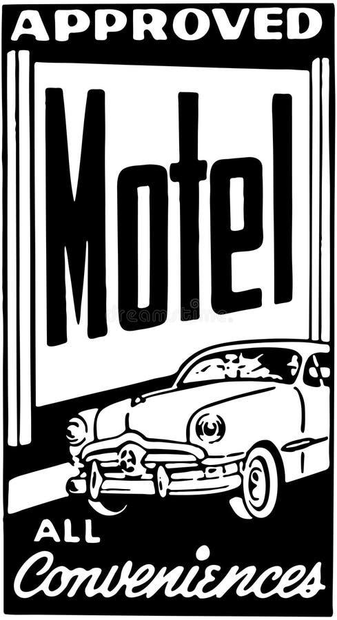 Motel aprobado 4 ilustración del vector