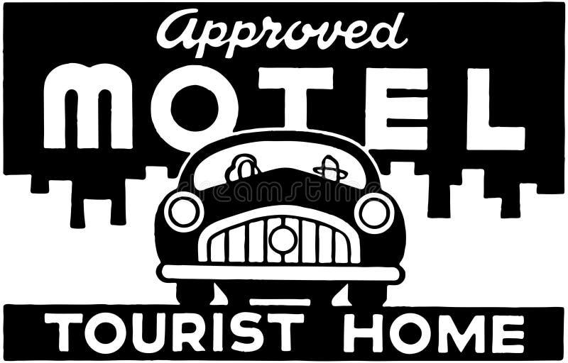 Motel aprobado ilustración del vector