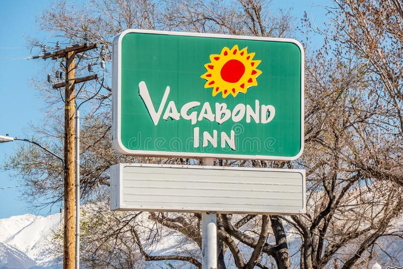 Motel d'auberge de vagabond dans l'évêque - l'ÉVÊQUE, Etats-Unis - 29 MARS 2019 photos stock
